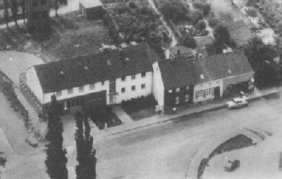 Luftaufnahme Wache Unterbach mit Steigerturm 1964.