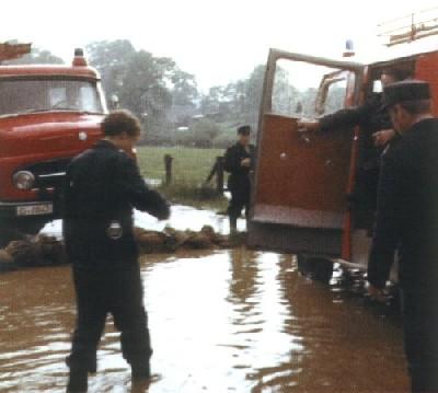 """Hochwasser 1968 """"An der Gink"""""""