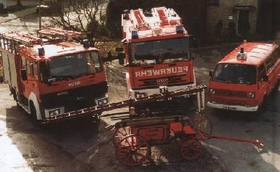 Der Fahrzeugpark der freiwilligen Feuerwehr Unterbach